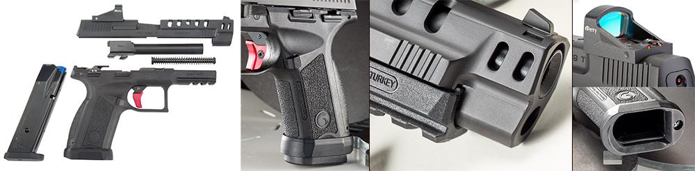 Disassembly, Grip texturing, Far-Dot reflex sight